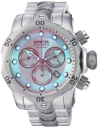 Invicta Mens Reserve Quartz Stainless Steel Casual Watch  Color:Silver-Toned (Model: 25043)