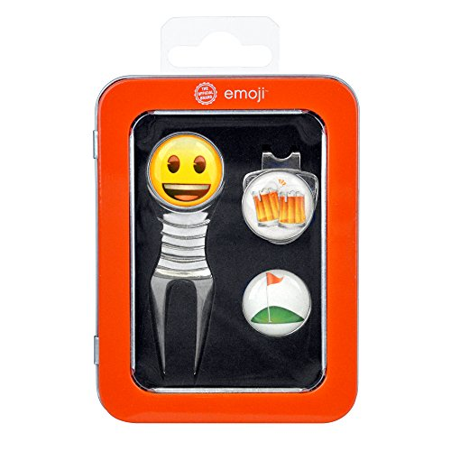 Emoji I Like Beer and Golf Divot Tool  Hat Clip and Ball Marker Gift Case Set