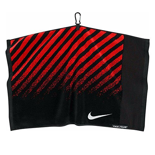 Nike Face/Club Jacquard Towel (Black (N87511) / Red/Silver  One Size)