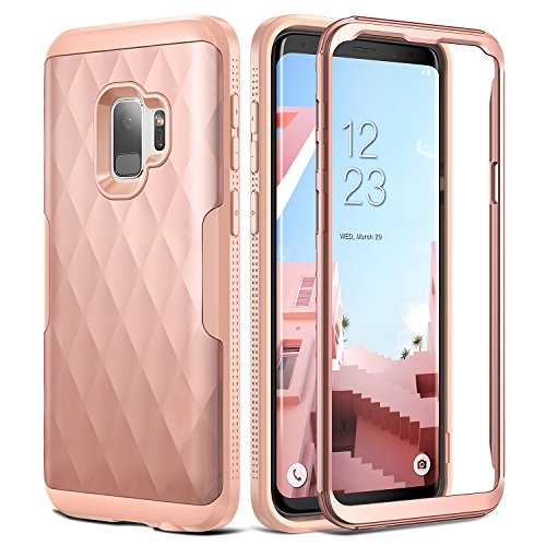 Galaxy S9 Case  YOUMAKER Full Body Rugged Slim Fit Heavy Duty Protection Shockproof Bumper Case Cove