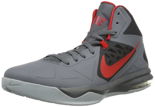 Nike Mens Air Max Body U Drk Gry/University Red/Blk/Wlf Gry Basketball Shoes 10.5 Men US