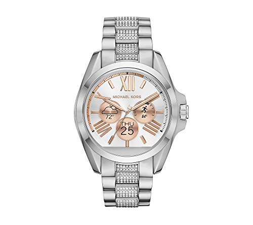 Michael Kors Access Unisex 45mm Silvertone Bradshaw Chronograph Smart Watch