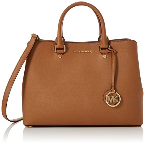 MICHAEL Michael Kors Savannah Large Saffiano Leather Satchel (Acorn)