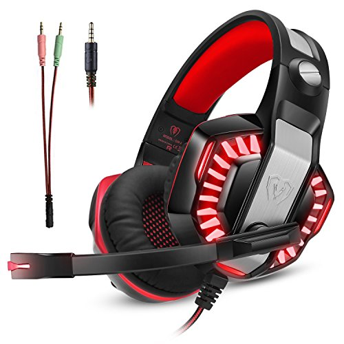 Gaming Headset for Xbox One Ps4  Gamer Headphone with Mic  Over Ear Bass Stereo  Noise Reduction Mic